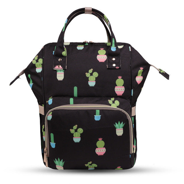 Abstract Printed Diaper Bags
