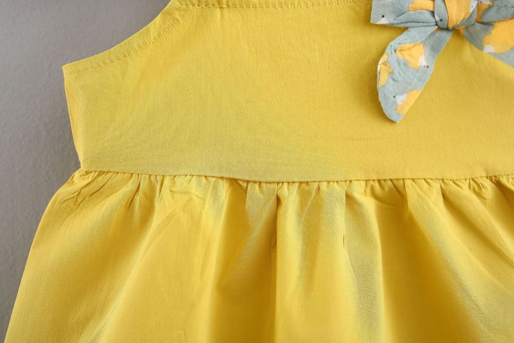 Yellow Pleated Top Plus Printed Shorts