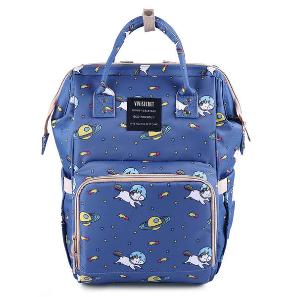 Space Printed Diaper Bag