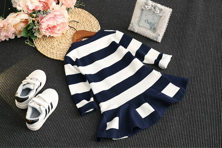 Long Sleeve Striped Dress - Baby Monk