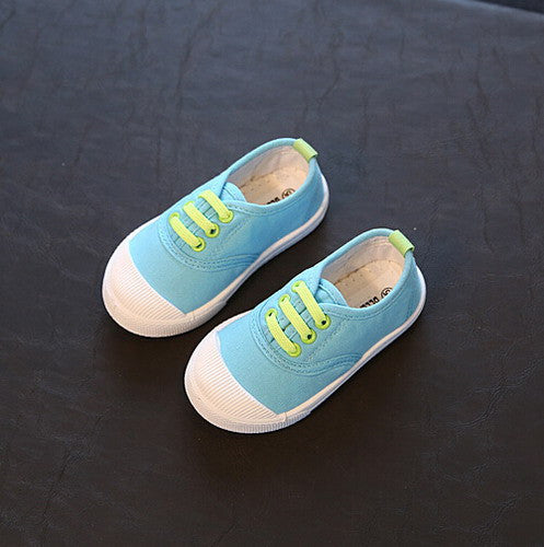 Canvas Shoes with Contrast Lace - Baby Monk