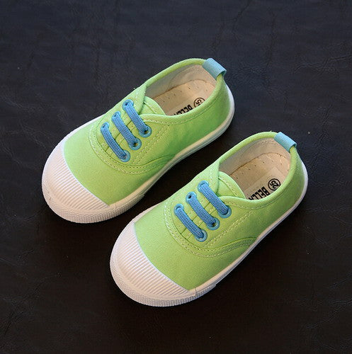 Canvas Shoes with Contrast Lace