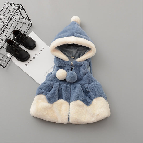 Fleece Winter Jacket for Baby Girls