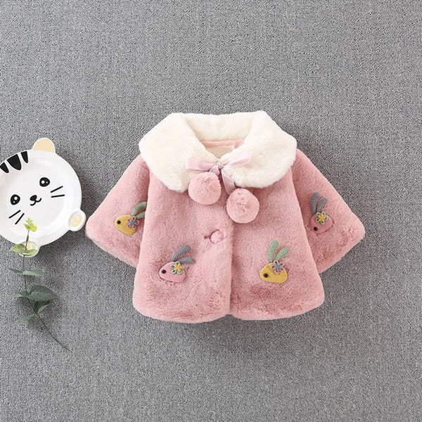 Baby Girls Fleece Winter Jacket