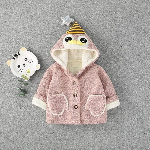 Fleece Hooded Winter Jacket