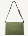 MULTI POUCH, OLIVE PEBBLE GRAIN LEATHER
