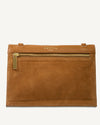 MULTI POUCH, TAN PEBBLE GRAIN LEATHER