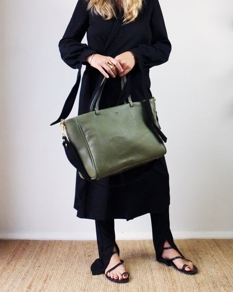 SIMPLE TOTE, OLIVE