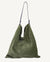 SLOUCH POUCH, OLIVE SUEDE
