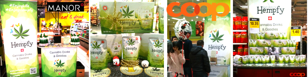 Hempfy cannabis drink at Coop.ch and Manor.ch Switzerland