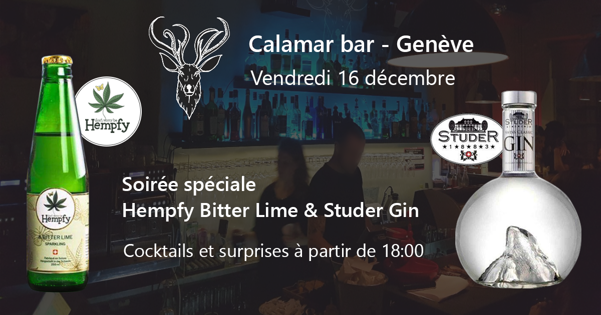 Hempfy cannabis drink event  geneva calamar bar