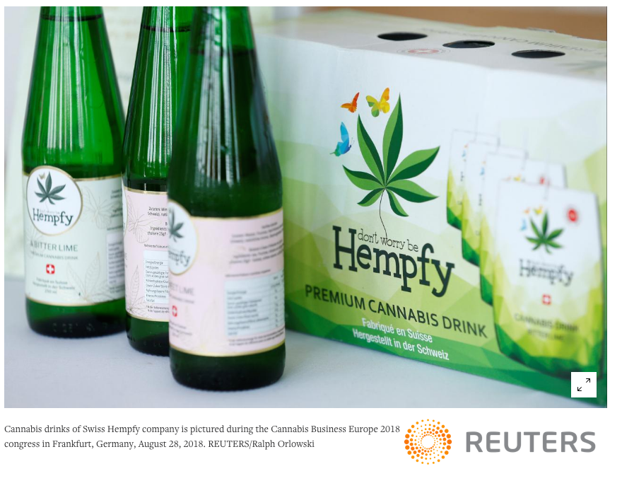 Reuters Thomson Hempfy image cannabis industry disrupters