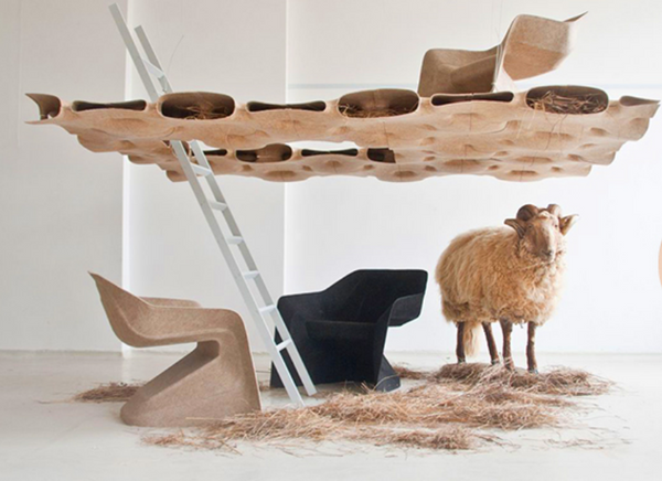 Werner Aisslinger, proposed resistant and eco-friendly, Hemp Chair.