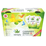 Hempfy Bitter Lime drink, 200 ml, box of 8 sachets