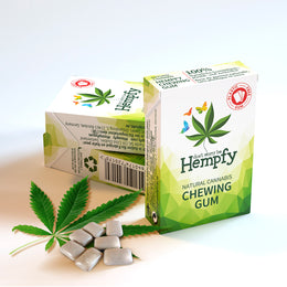 Hempfy natural chewing gum, 3 boxes