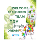Hempfy chewing gum, 3 pouches