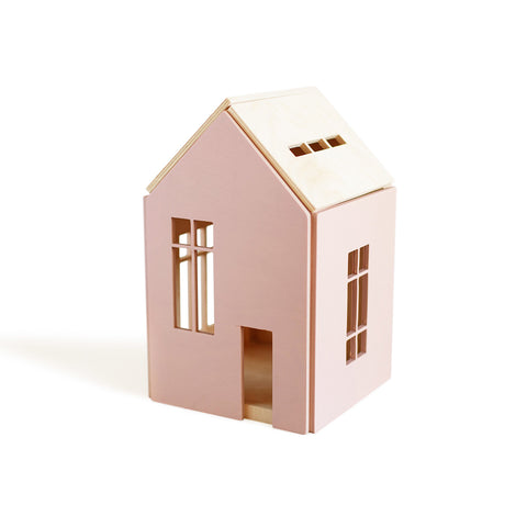 MAISONETTE AIMANTEE EN BOIS (LARGE) - ROSE