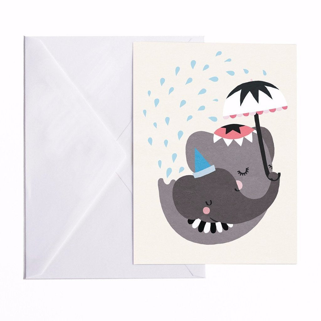 CARTE POSTALE ELEPHANT LOVE A5 Michelle Carlslund - Booboo Pirates