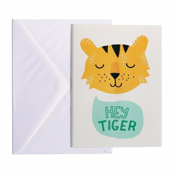 CARTE POSTALE HEY TIGER A5 Michelle Carlslund - Booboo Pirates