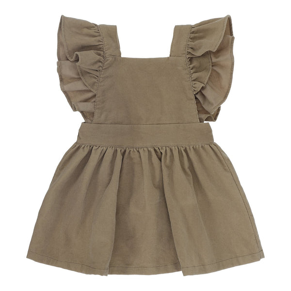 ROBE PINAFORE COTELEE MARRON bonet et bonet - Booboo Pirates
