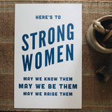 POSTER 'HERE'S TO STRONG WOMEN'