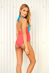 GRACE TURCHESE & NECTARINE REVERSIBLE ONE PIECE