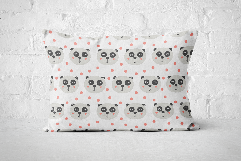 Smiley Critters Pattern 10 | Pillow Rectangle - But Why Not