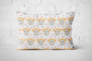 Smiley Critters Pattern 11 | Pillow Rectangle - But Why Not
