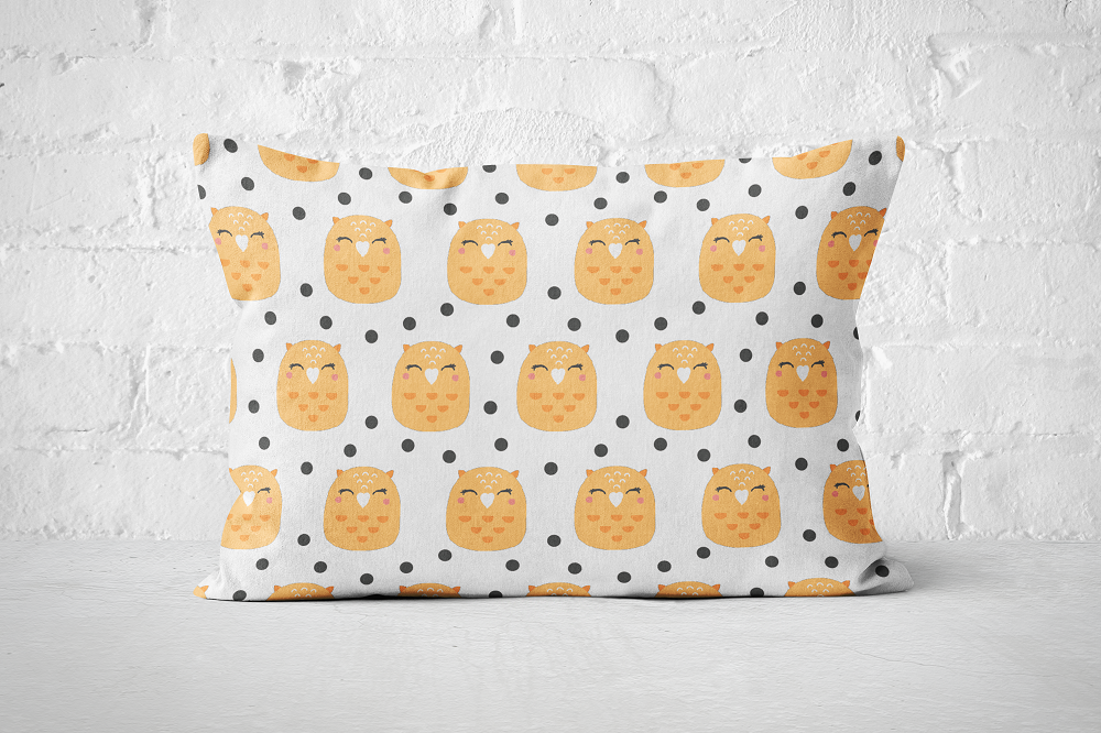 Smiley Critters Pattern 13 | Pillow Rectangle - But Why Not