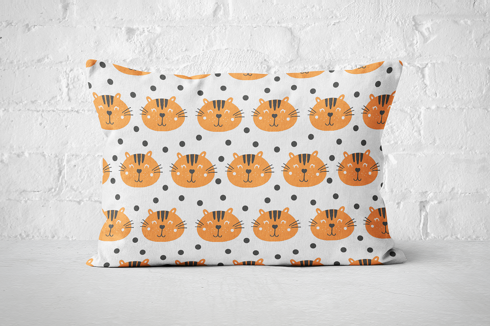 Smiley Critters Pattern 14 | Pillow Rectangle - But Why Not