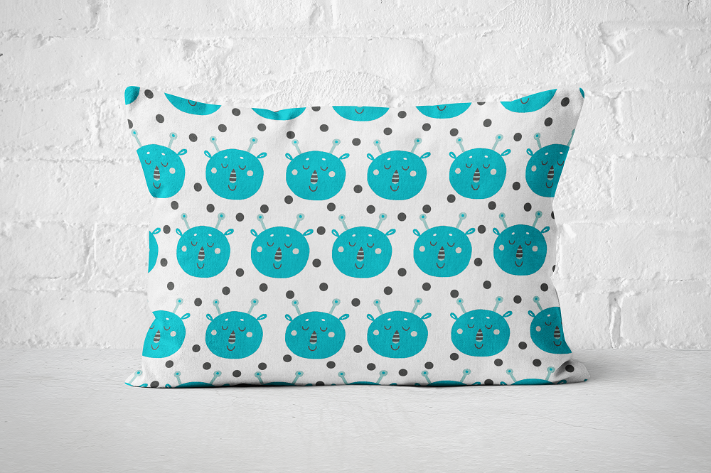 Smiley Critters Pattern 15 | Pillow Rectangle - But Why Not