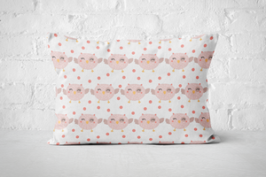 Smiley Critters Pattern 16 | Pillow Rectangle - But Why Not