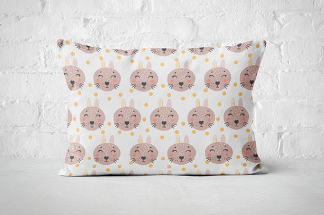 Smiley Critters Pattern 18 | Pillow Rectangle - But Why Not