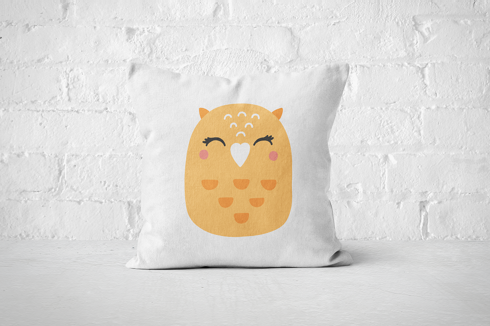 Smiley Critter 10 | Pillow Square - But Why Not