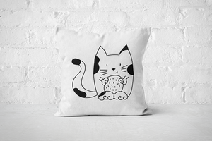 Cat | Pillow - Square - But Why Not