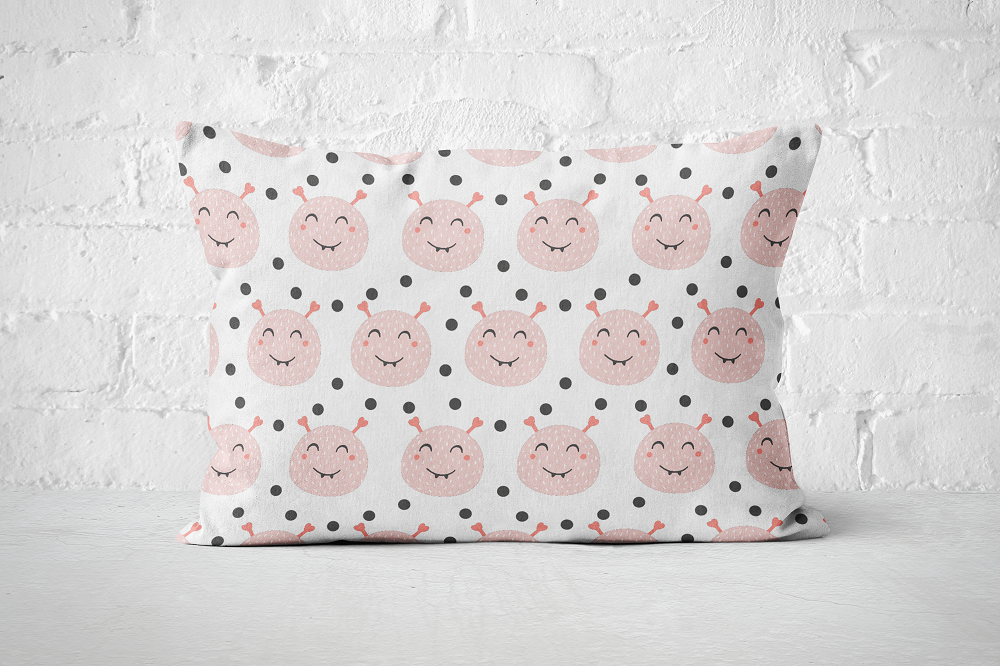 Smiley Critters Pattern 20 | Pillow Rectangle - But Why Not