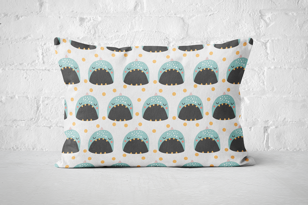 Smiley Critters Pattern 24 | Pillow Rectangle - But Why Not