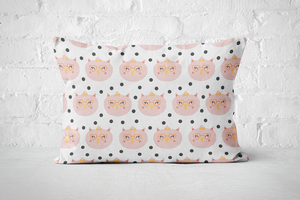 Smiley Critters Pattern 25 | Pillow Rectangle - But Why Not