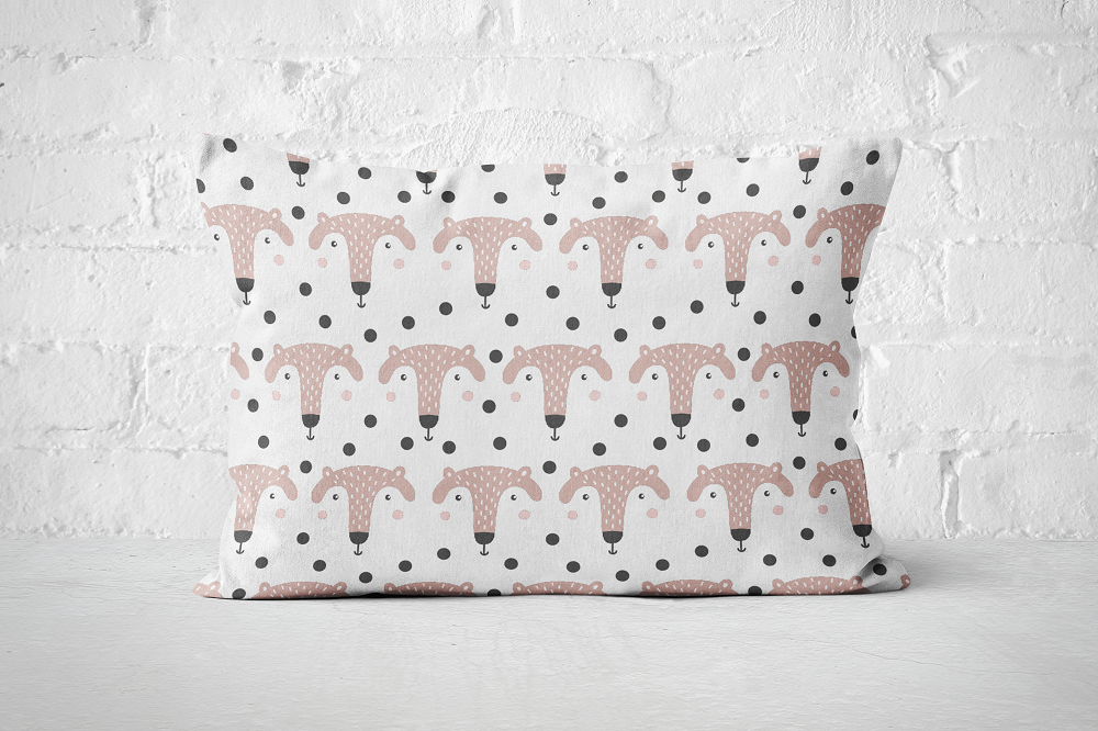 Smiley Critters Pattern 27 | Pillow Rectangle - But Why Not