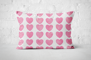 Pink Hearts | Pillow