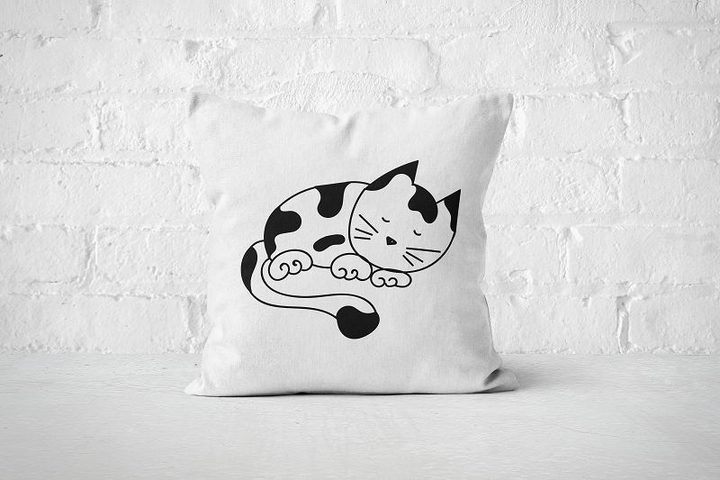 Sleeping Cat | Pillow - Square - But Why Not
