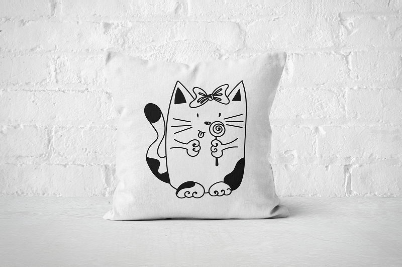 Cute Cat | Pillow - Square - But Why Not