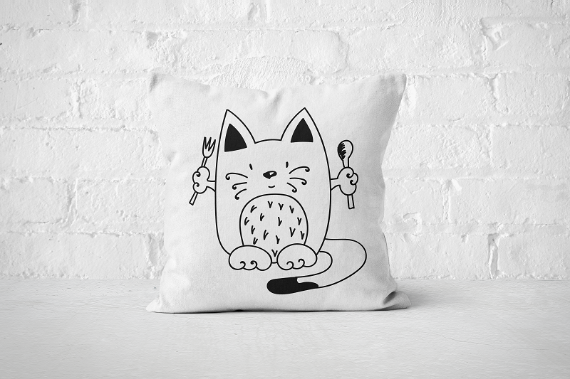 Ready to eat Cat | Pillow - Square - But Why Not
