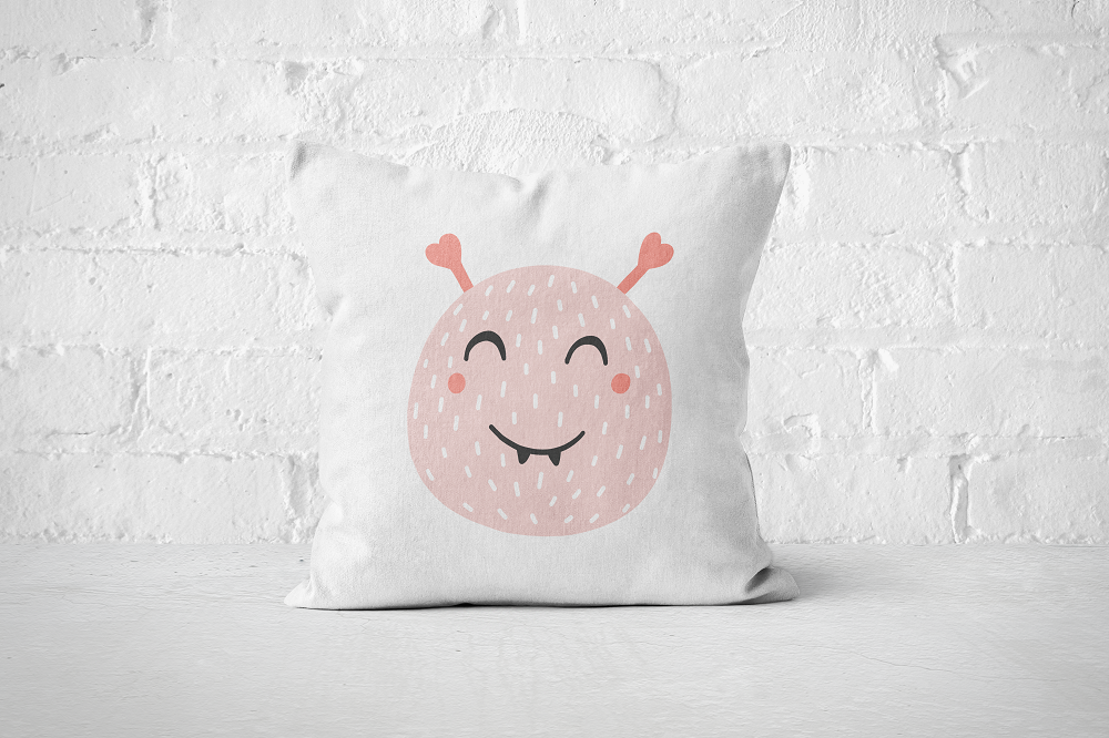 Smiley Critter 17 | Pillow Square - But Why Not