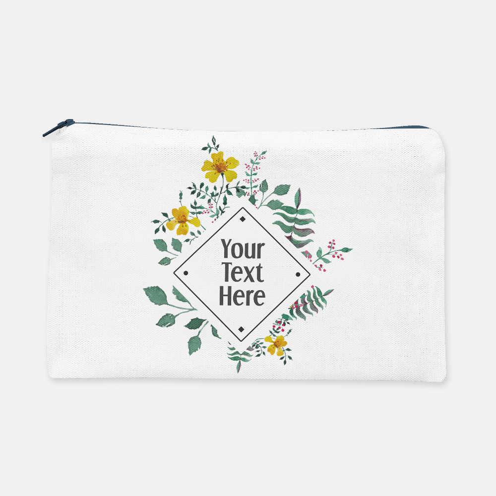 Diamond Floral Frame | Pencil Bag