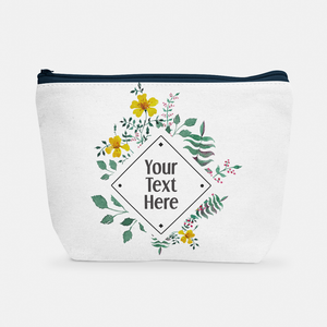 Diamond Floral Frame | Cosmetic Bag - But Why Not