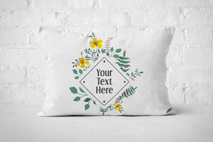 Diamond Floral Frame | Pillow - But Why Not