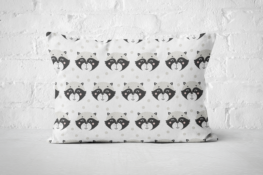 Smiley Critters Pattern 28 | Pillow Rectangle - But Why Not