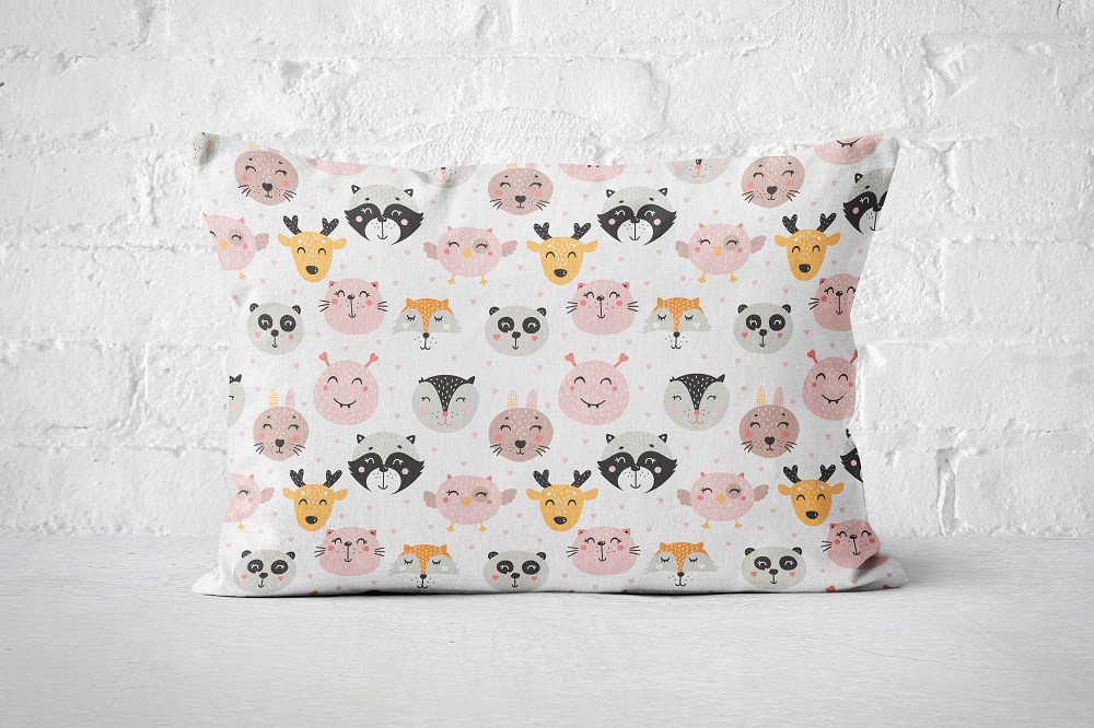 Smiley Critters Pattern 1 | Pillow Rectangle - But Why Not
