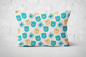 Smiley Critters Pattern 4 | Pillow Rectangle - But Why Not